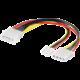 "PremiumCord kabel napájecí HDD 5,25""-5,25""+3,5"""