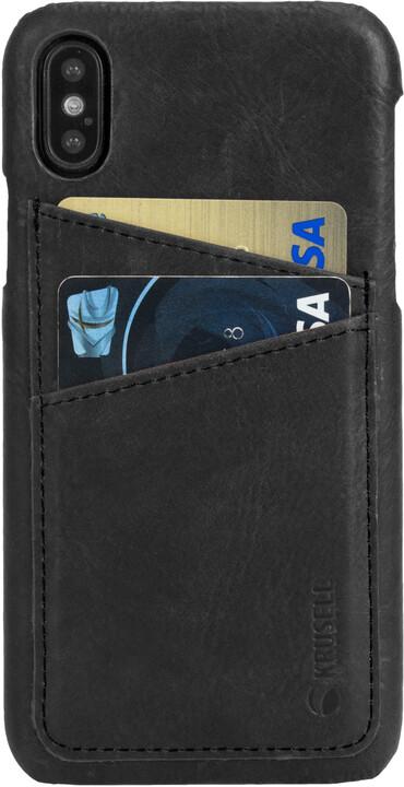 Krusell zadní kryt SUNNE 2 CARD pro Apple iPhone X, černá