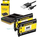 Patona nabíječka Foto Dual Quick Olympus Li-40B/42B + 2x baterie 500mAh USB
