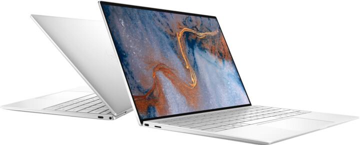 Dell XPS 13 (9300), stříbrná-bílá