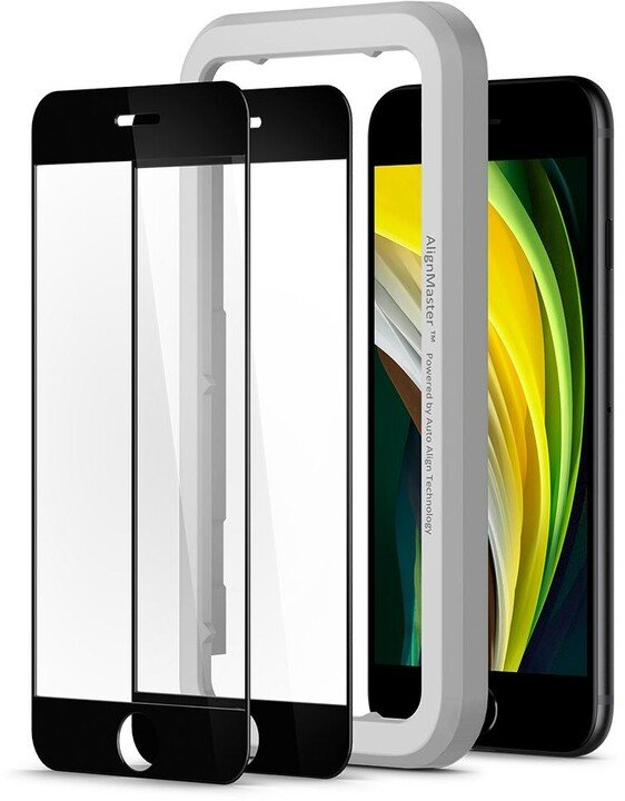 Spigen ochranné sklo AlignMaster Glas.tR Privacy pro iPhone 7/8/SE 2020