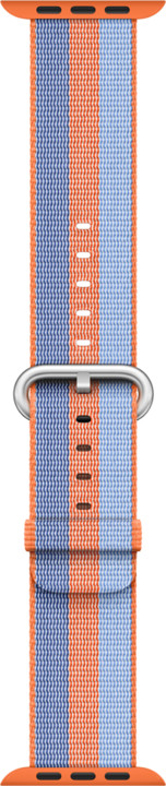 Apple watch náramek 42mm Orange Woven Nylon