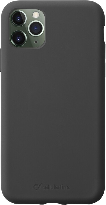 CellularLine ochranný silikonový kryt SENSATION pro Apple iPhone 11 Pro Max, černá