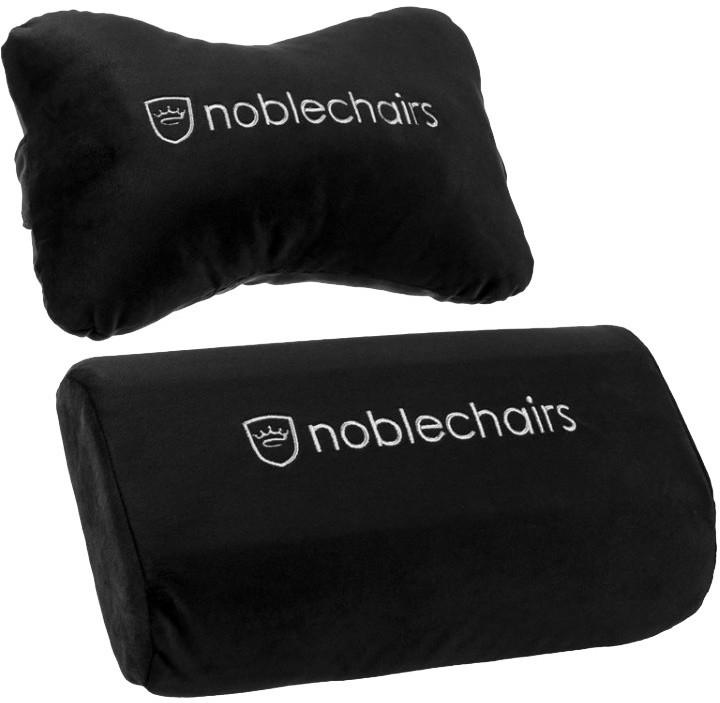 Polštářky noblechairs, černá/bílá