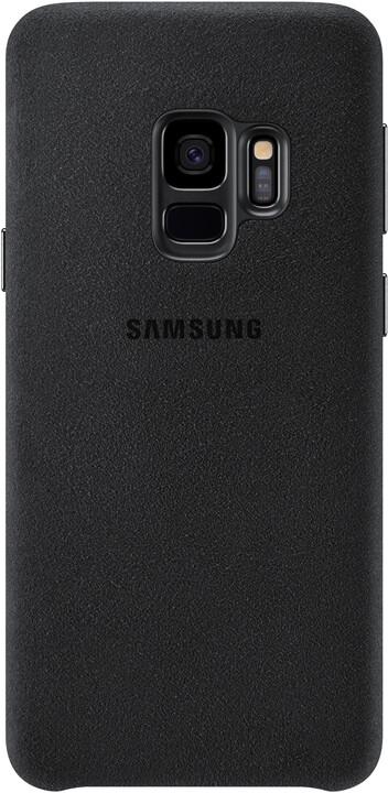 Samsung zadní kryt - kůže Alcantara pro Samsung Galaxy S9, černý