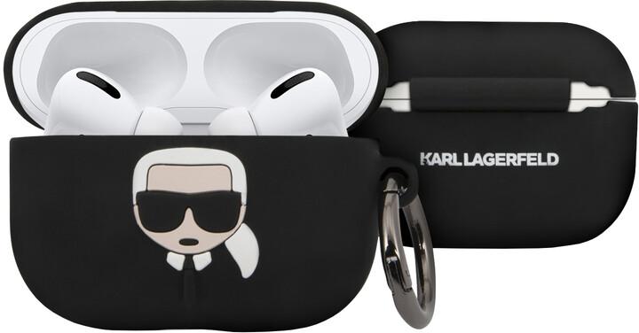 Karl Lagerfeld silikonový kryt pro Airpods Pro, černá