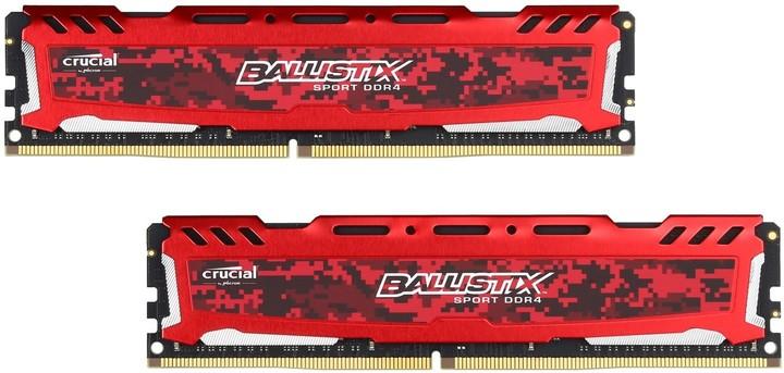 Crucial Ballistix Sport LT Red 8GB (2x4GB) DDR4 2400