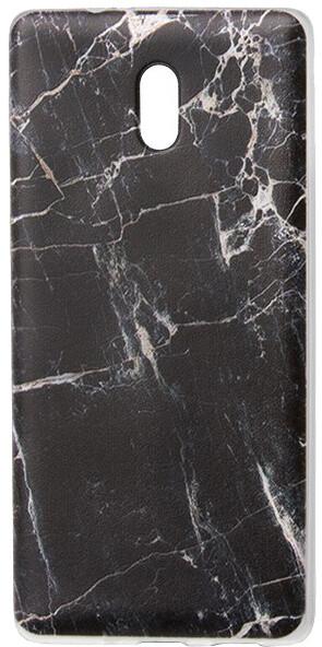 EPICO pružný plastový kryt pro Nokia 3 MARBLE - black