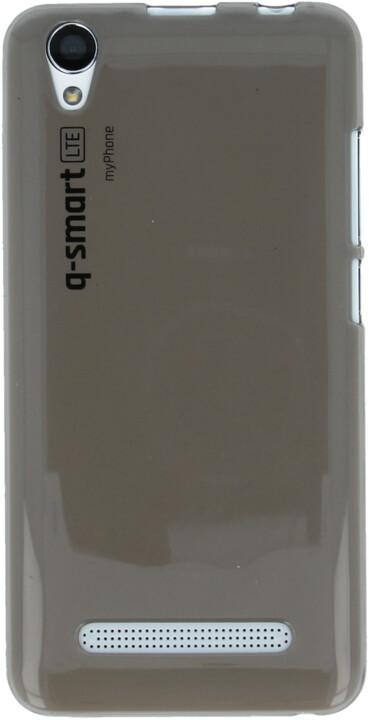 myPhone silikonové pouzdro pro Q-smart LTE, transparentní hnědá
