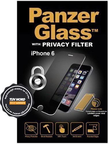 PanzerGlass Premium Privacy pro Apple iPhone 6/6s/7/8, černé