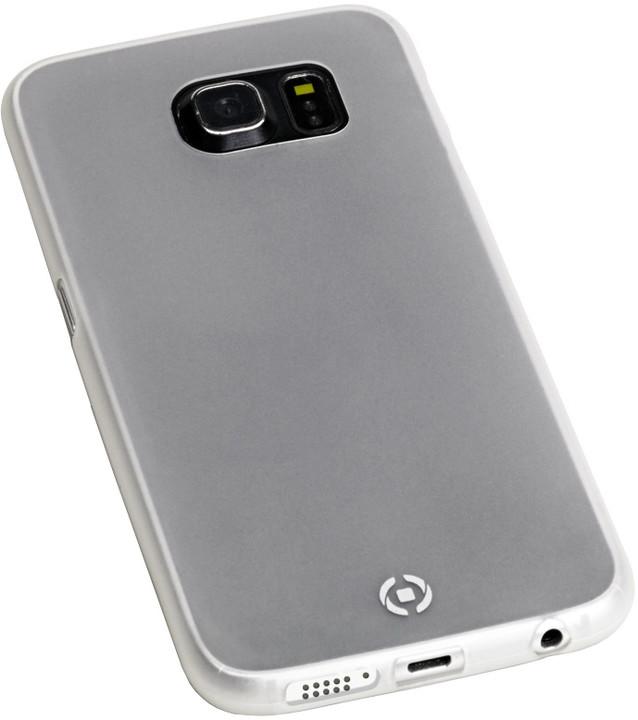 CELLY Frost pouzdro pro Samsung Galaxy S6 Edge Plus, 0,29 mm, bílé
