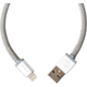 PlusUs LifeStar Handcrafted USB Charge & Sync cable (1m) Lightning - Silver