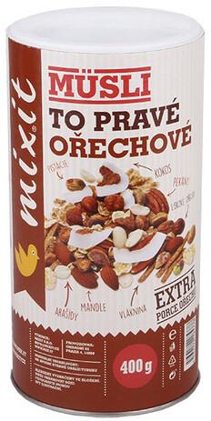 Mixit müsli To pravé ořechové - mix ořechy/čokoláda, 400g