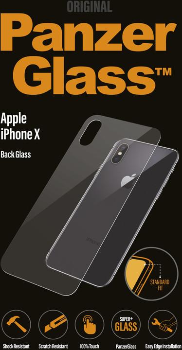 PanzerGlass Standard na zadní stranu pro Apple iPhone X, čiré