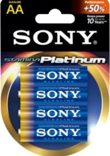 "SONY Alkalická baterie ""STAMINA PLATINUM"" - LR6/AA 1,5V - 4 ks v balení Eco Pack"