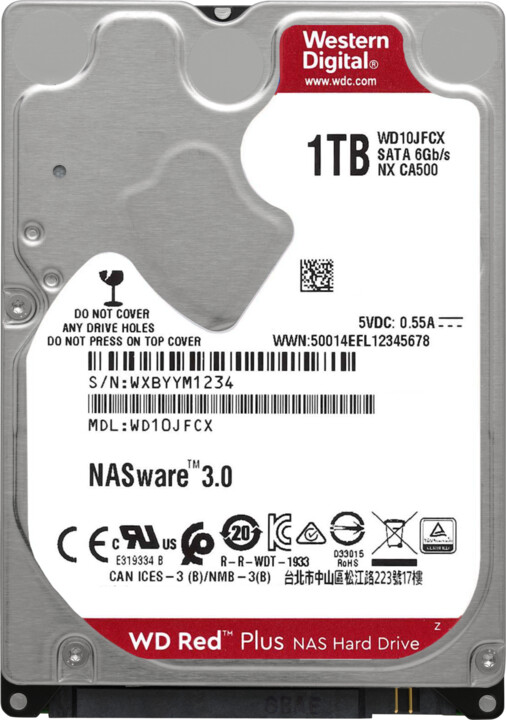 "WD Red Plus (JFCX), 2,5"" - 1TB"