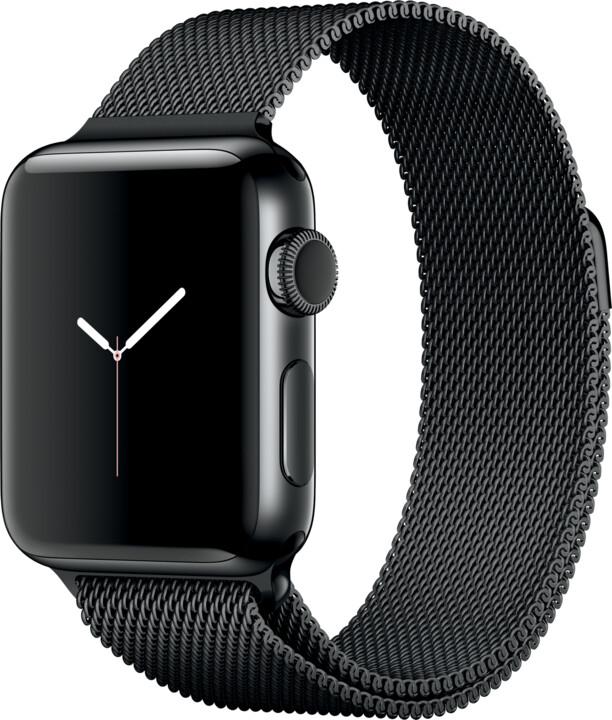 Apple Watch 2 38mm Space Black Stainless Steel Case with Space Black Milanese Loop