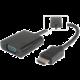 PremiumCord převodník HDMI na VGA se zvukem 3,5mm stereo jack, černá
