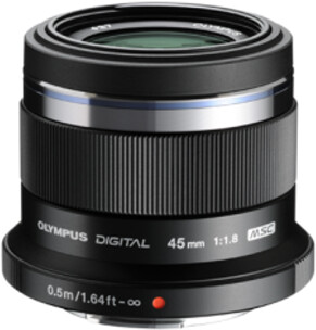 Objektiv Olympus M. ZUIKO DIGITAL 45mm f/1.8, černá v ceně 8 499 Kč