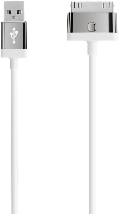 Belkin 30-pin pro Apple, 2m, bílá