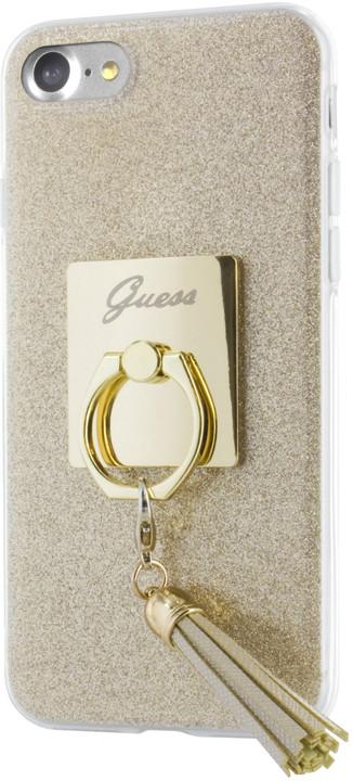 Guess Ring TPU Pouzdro Gold pro iPhone 7