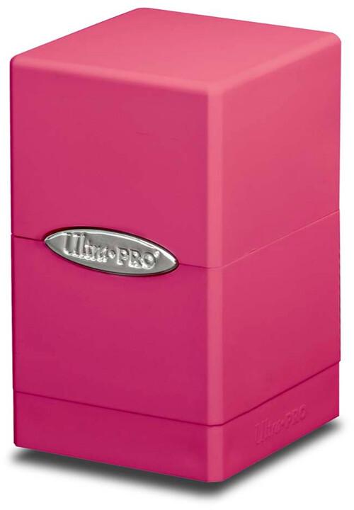 Krabička na karty Ultra Pro: Satin Tower, růžová