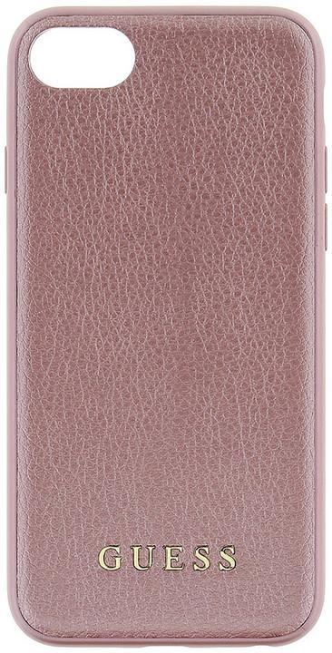 Guess IriDescent TPU Pouzdro Rose Gold pro iPhone 7