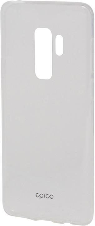 RONNY GLOSS pružný plastový kryt pro Samsung Galaxy S9 Plus - bílý transparentní