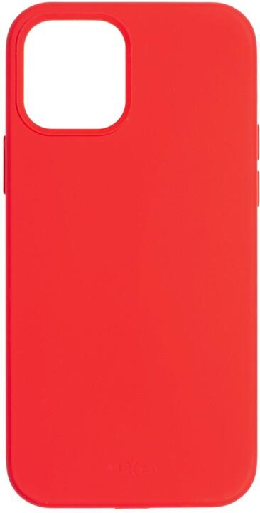 FIXED silikonový kryt Flow pro Apple iPhone 12/12 Pro, červená