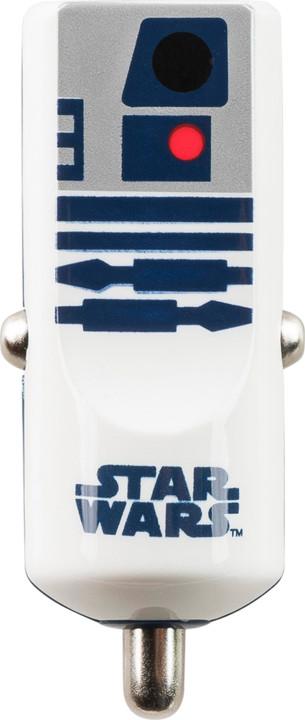 Tribe Star Wars R2D2 Nabíječka do auta - Bílá