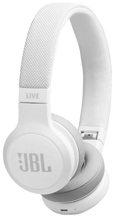 JBL Live 400BT, bílá