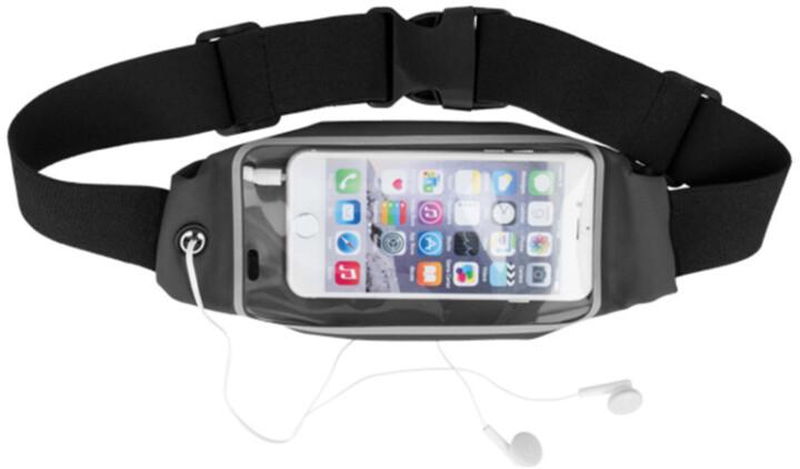 """Forever pouzdro typu ledvinka pro smartphone 6.2"""", černá"""
