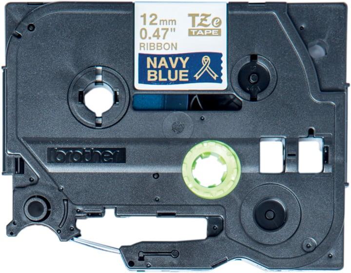 Brother TZE-RN34 námořní modř / zlatá, 12 mm, 4m