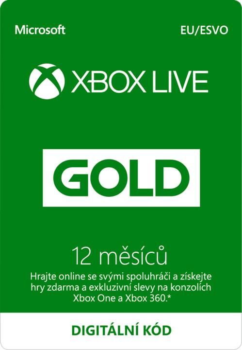 Microsoft Xbox Live zlaté členství 12 měsíců - elektronicky