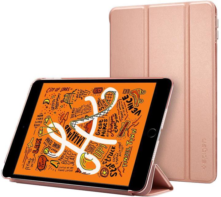 Spigen ochranné pouzdro Smart Fold Case pro Apple iPad mini 5 2019, zlato/růžová