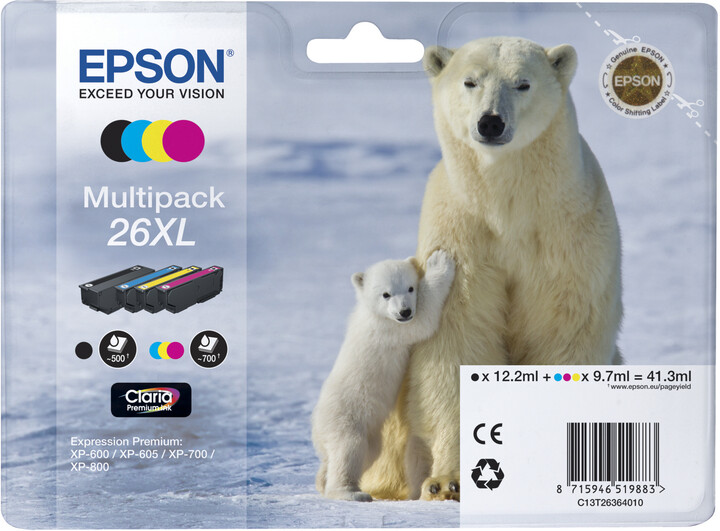 Epson C13T26364010, XL, multipack