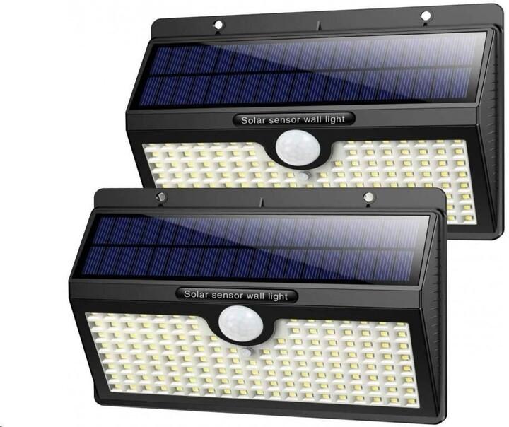 Viking venkovní světlo V138, LED, solární, s pohybovým senzorem, černá