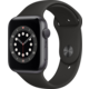 Apple Watch Series 6, 44mm, Space Gray, Black Sport Band O2 TV Sport Pack na 3 měsíce (max. 1x na objednávku)