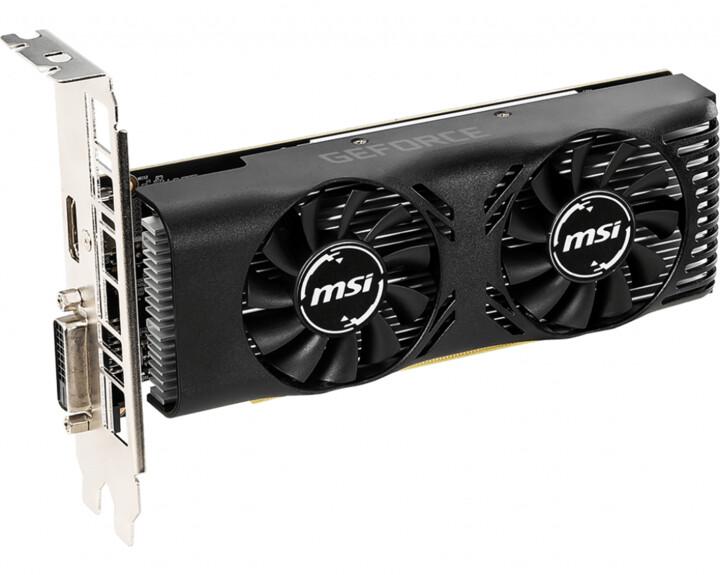 MSI GeForce GTX 1650 4GT LP OC, 4GB GDDR5