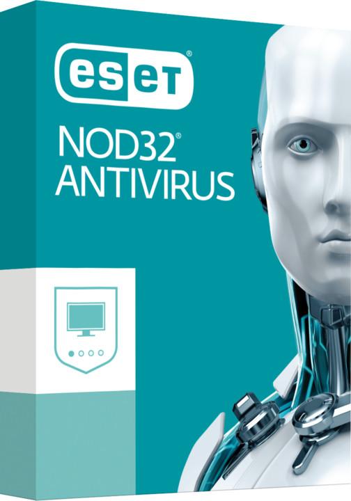ESET NOD32 Antivirus pro 3 PC na 1 rok, prodloužení licence