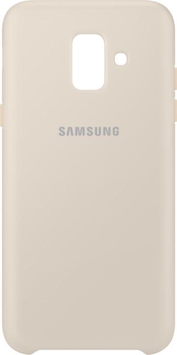 Samsung A6 dvouvrstvý ochranný zadní kryt, zlatá