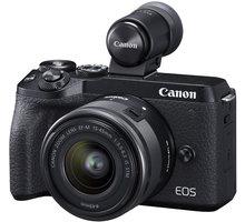 Canon EOS M6 MII + 15-45 + EVF - 3611C012 + Ponožky se vzorem - velikost 38 - 42 v hodnotě 219 Kč