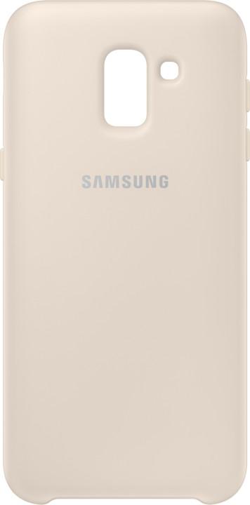 Samsung dvouvrstvý ochranný kryt pro J6, zlatá