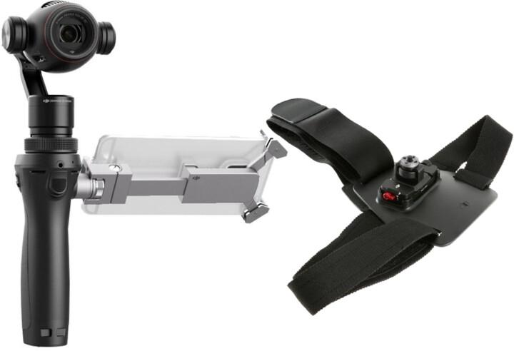 DJI OSMO+ - ruční stabilizátor kamery s UHD kamerou X3 ZOOM + hrudní popruh