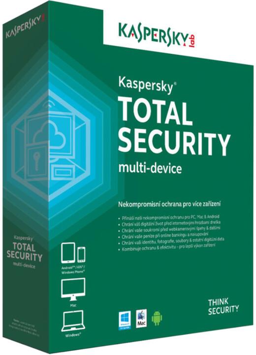Kaspersky Total Security multi-device CZ pro 1 zařízení na 24 měsíců, přechod od konkurence