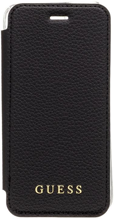 GUESS IriDescent Book pouzdro pro iPhone 8, černá