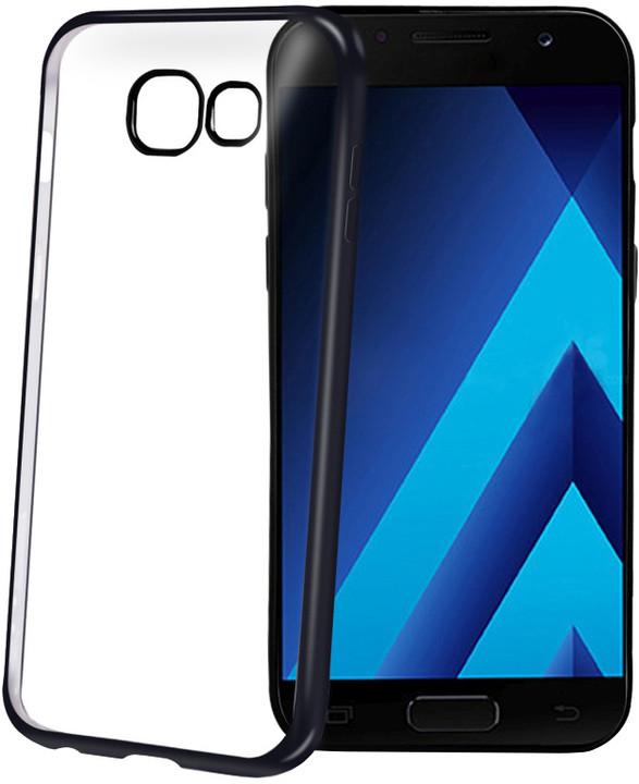 CELLY Laser - pouzdro lemování s kovovým efektem pro Samsung Galaxy A3 (2017), černé
