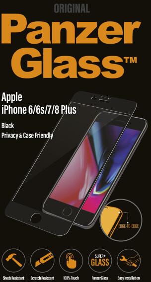 PanzerGlass Edge-to-Edge Privacy pro Apple iPhone 6/6s/7/8 Plus, černé