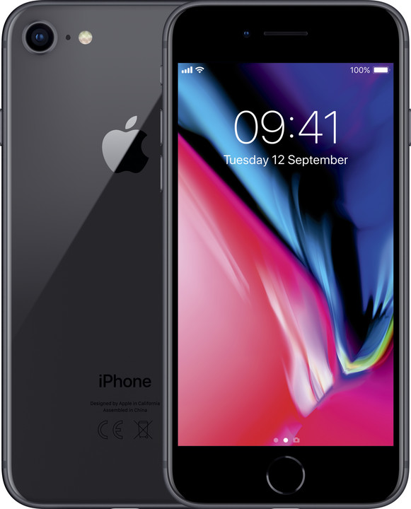 Apple iPhone 8, 256GB, šedá