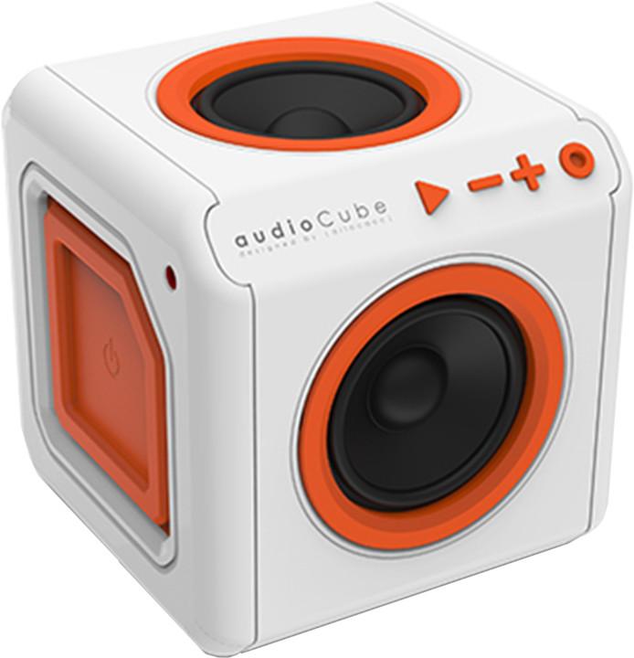 AudioCube Portable, bílá/oranžová